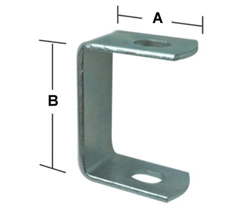 Double Panel Bracket  - Zinc - PB18DZ