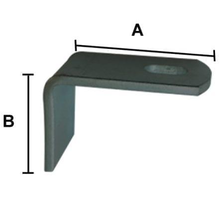 Single Panel Bracket  - Zinc - PB20