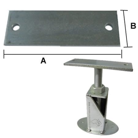Beam Support Plates - Post Plate 2 Holes - PP2 - Black Finish