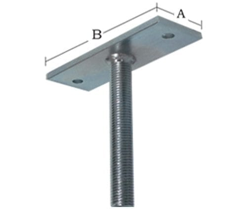 Beam Support Assembly -  (PP2 + TR30) - Zinc - PPBS30-PP2