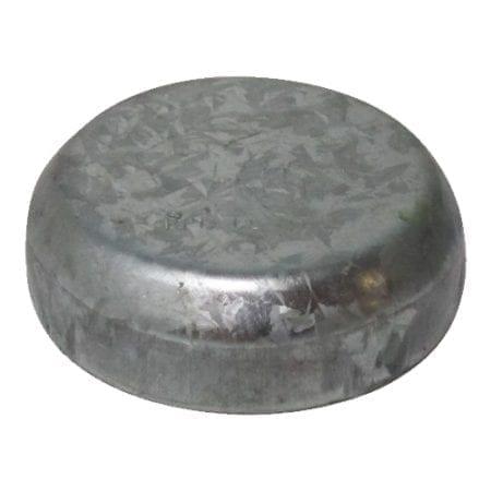 50NB Round Post Cap - Galvanised - RPC50