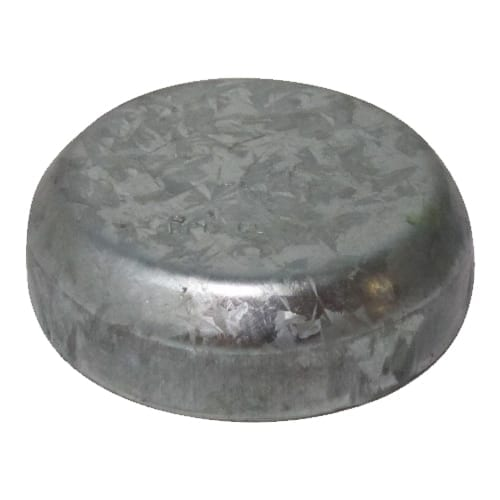 Round Post Caps Galvanised